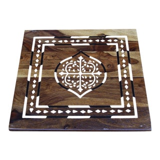 Square Bone Inlaid Tray For Sale