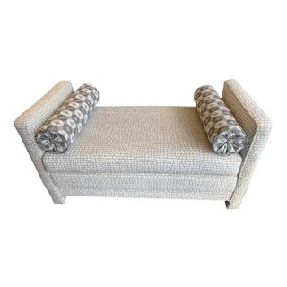 1970s Vintage White Cream Daybed Settee For Sale
