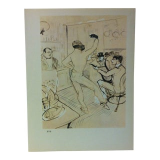 """Circa 1980 """"Chocolat Dancing 1896"""" Color Print of a Toulouse-Lautrec Drawing For Sale"""