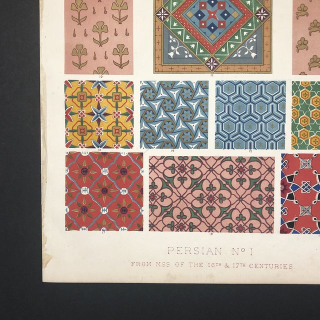 Persian plate from an unknown but certainly 19th century edition of Jones' seminal design reference.