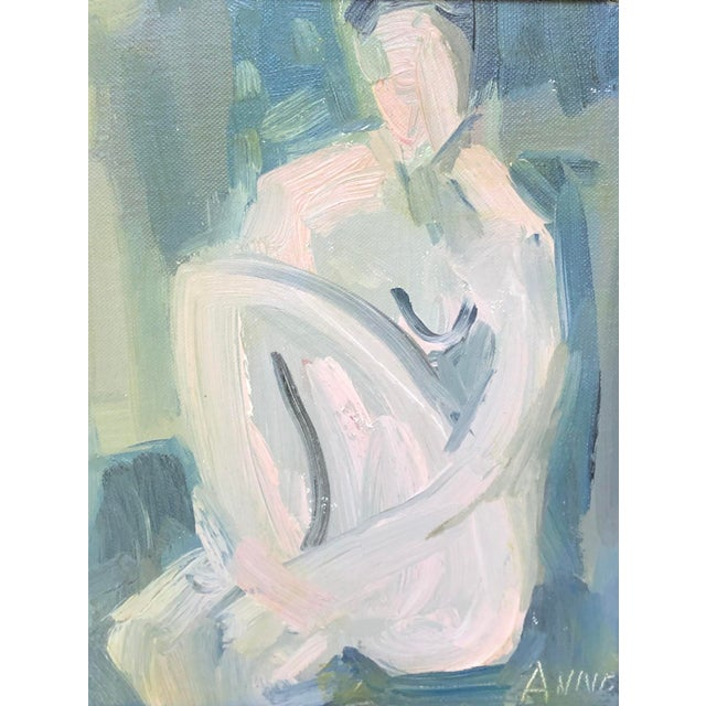 """Cool Abstract """"Figure at Dusk I"""" by Anne Darby Parker For Sale"""