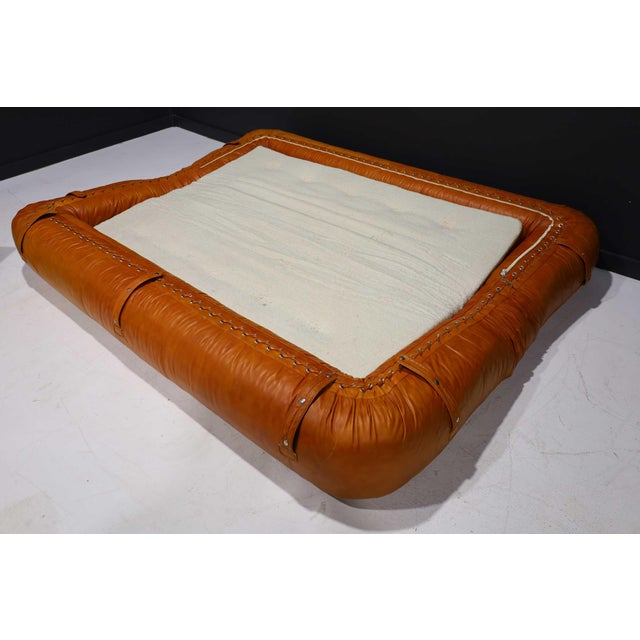 Amber Leather Anfibio Sofa Bed by Alessandro Becchi for Giovannetti Collezioni, 1970s For Sale - Image 8 of 13