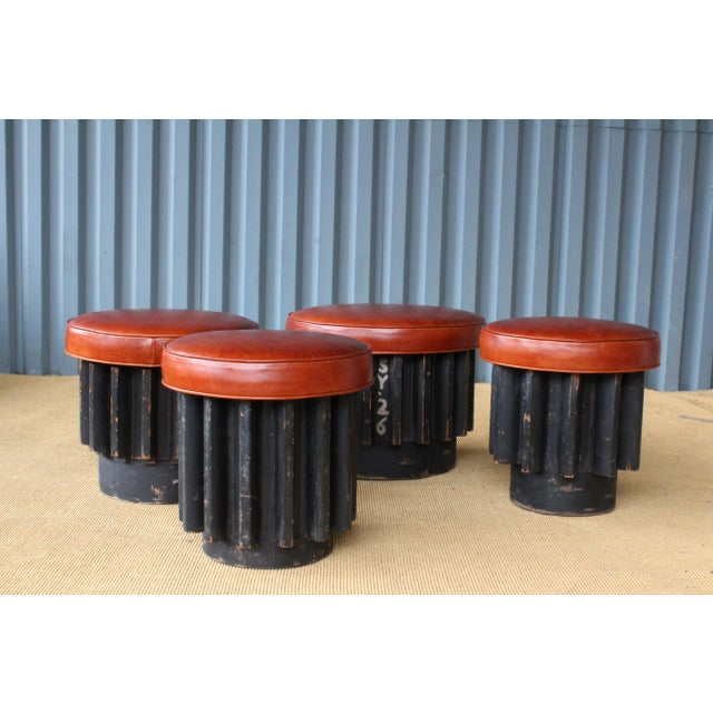 Industrial Gear Cog Stools, California, 1940s For Sale - Image 11 of 11