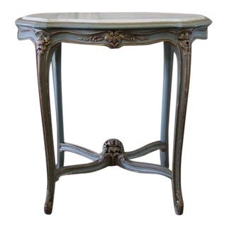 20th Century Louis XV Style Marble Top Accent Table