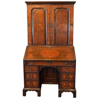 William and Mary Marquetry Secretary, Circa 1700 For Sale