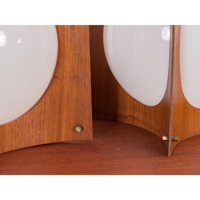 1960s Concave Mid-Century Globe Pendants- A Pair For Sale In New York - Image 6 of 9
