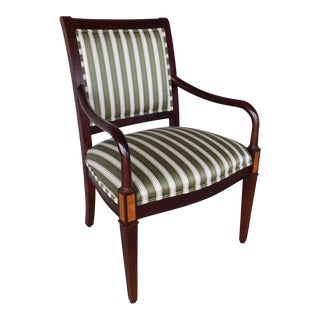 Hickory Chair CO.Regency Style Mahogany Frame Arm Chair For Sale