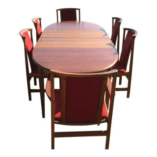 Mid Century Modern Gudme Danish Dining Set- 7 Piece For Sale