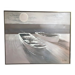 Mid-Century Lee Reynolds Boat Painting For Sale
