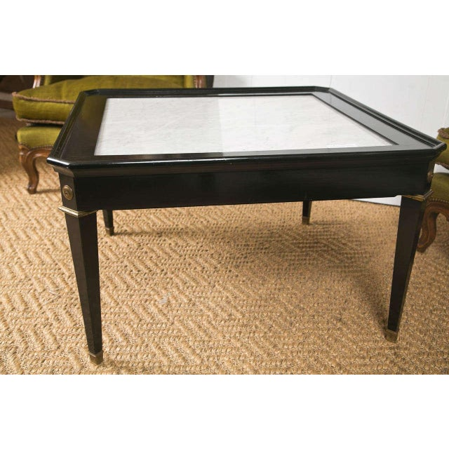 Black Maison Jansen Coffee Table For Sale - Image 8 of 8
