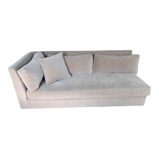 Modern Velvet Left Arm Sofa For Sale