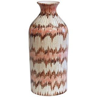1950s Vintage Bitossi Italian Pottery Early V-Mark Londi Raymor Ceramic Vase For Sale