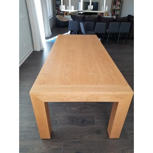 Contemporary Mitchell Gold Bob Williams Oak Dining Table Chairish