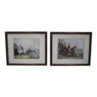 1990s Framed Hunt Scene Prints - A Pair For Sale