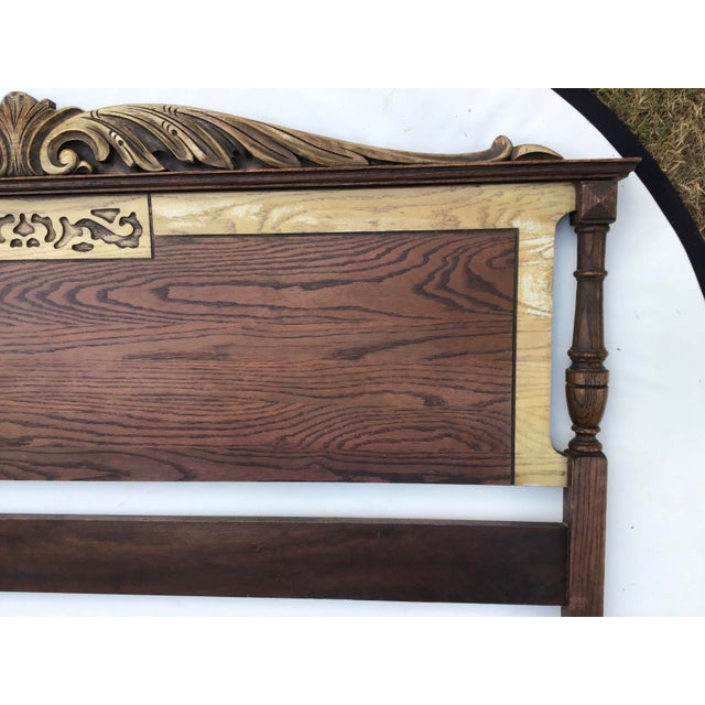 French Louis XV Inspired Double Headboard & Footboard For Sale In Cleveland - Image 6 of 12