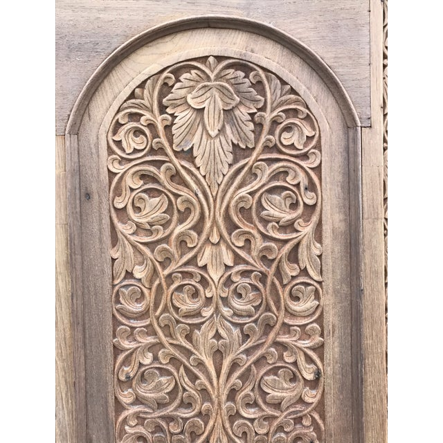 Antique Carved Anglo-Indian Doors - Pair - Image 6 of 6
