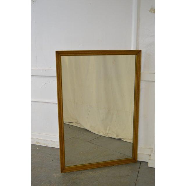 STORE ITEM #: 16250-fwmr Henredon Vintage Walnut Frame Rectangular Wall Mirror AGE/COUNTRY OF ORIGIN – Approx 51 years,...