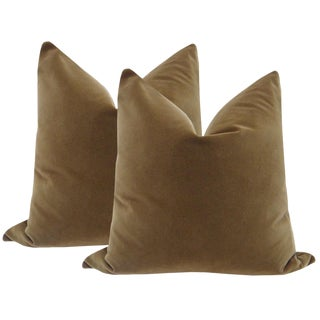 "22"" Chestnut Brown Velvet Pillows - a Pair"