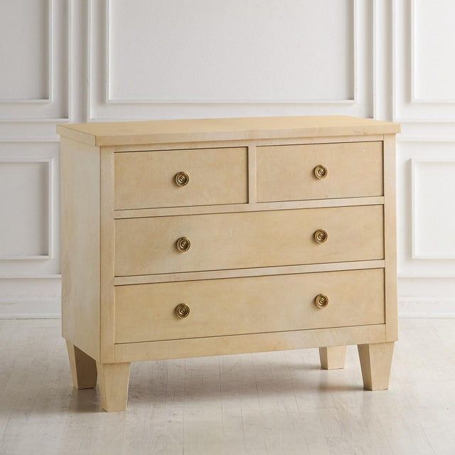 Jean-Michel Frank Style Parchment Covered Dresser For Sale - Image 10 of 10