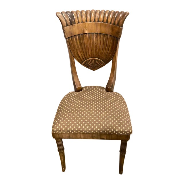Early 20th Century Neoclassical-Style Walnut Side Chair For Sale