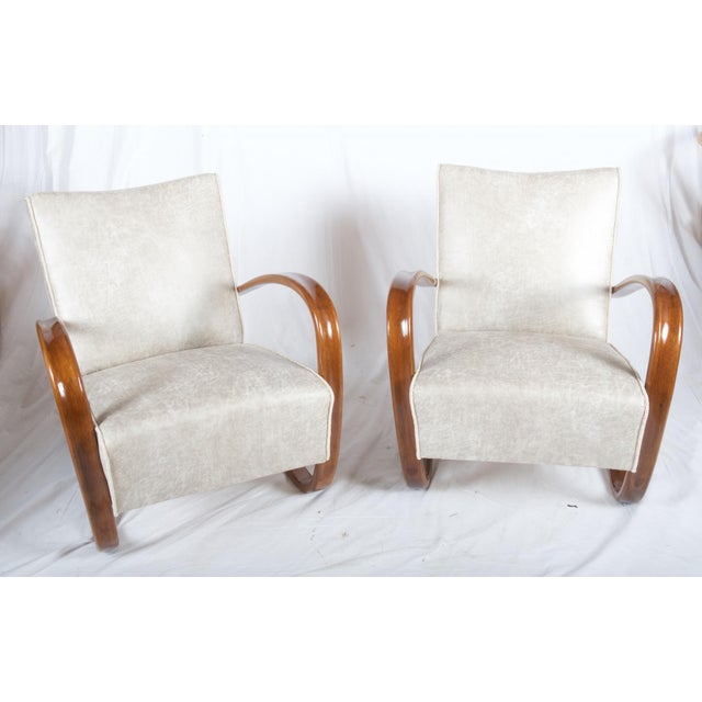 Wood H269 Lounge Chair by Jindrich Halabala for Thonet, 1930s - A Pair For Sale - Image 7 of 11