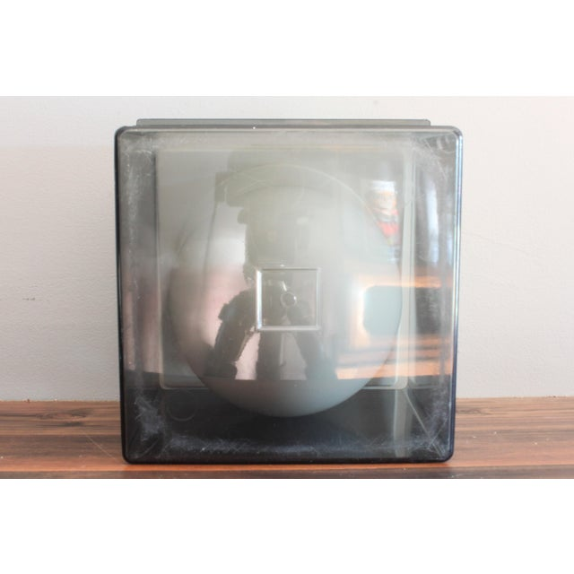 Plastic 1960s Atomic Mid Century Modern Smoked Plexi 3-Piece Ice Bucket For Sale - Image 7 of 8