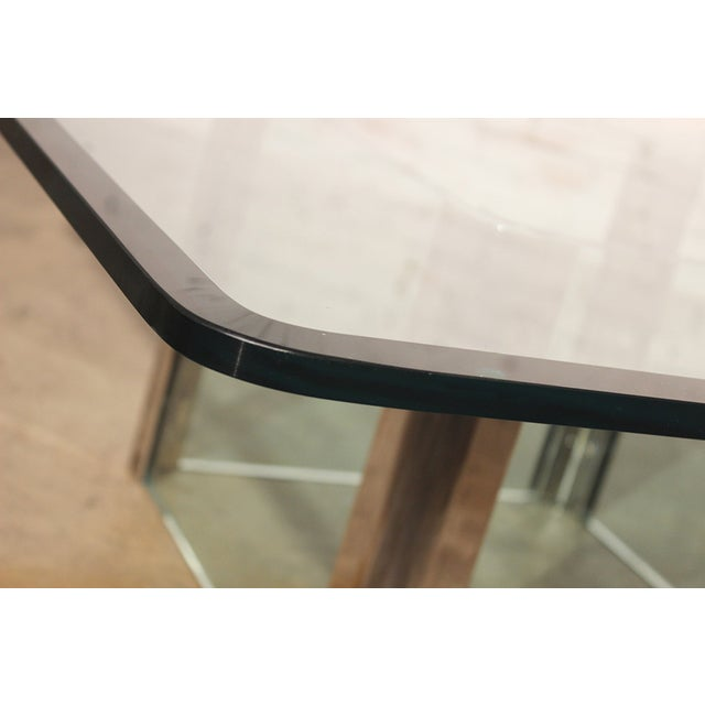 Pace Collection Chrome & Glass Square Coffee Table For Sale - Image 7 of 11