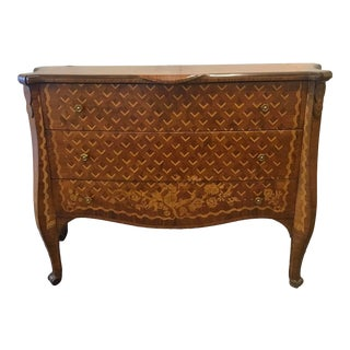 Vintage Italian Marquetry Chest of Drawers For Sale