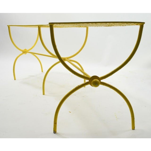 Curved Garden Patio Benches by Salterini Pair Available For Sale - Image 9 of 12