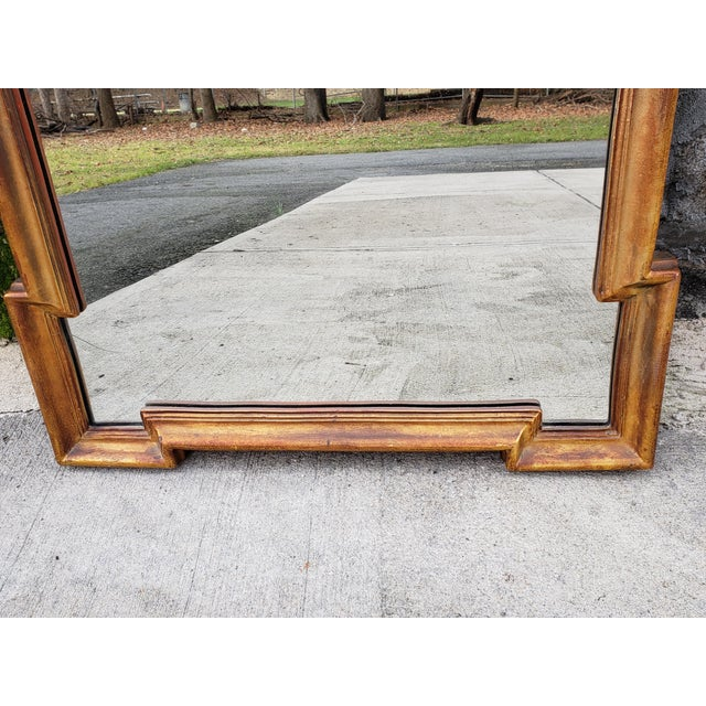 Gold Hollywood Regency Mirror For Sale In New York - Image 6 of 12