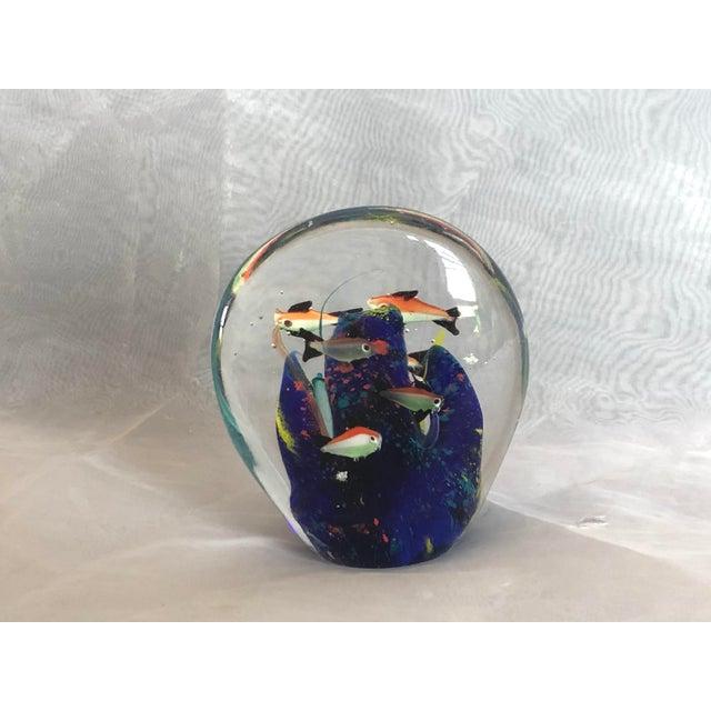 Mid-Century Murano Art Glass Aquarium Sculpture For Sale - Image 11 of 12