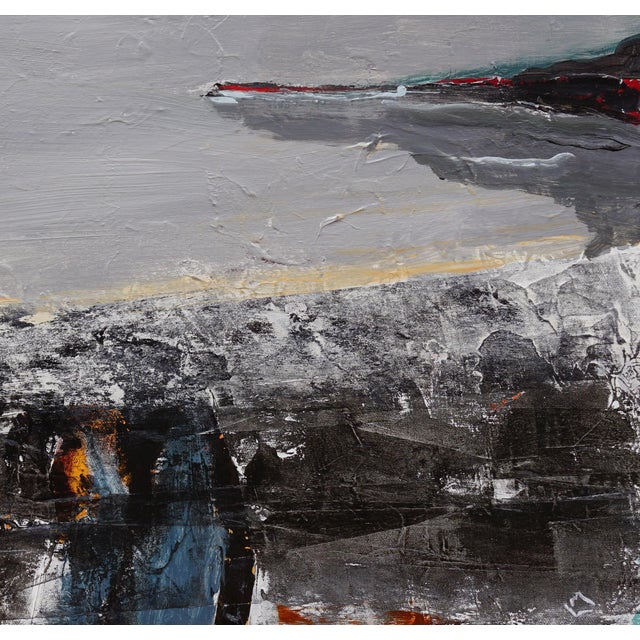 """Contemporary Laurie MacMillan """"Tarry Tarry Night"""" Abstract Landscape Painting For Sale - Image 3 of 5"""