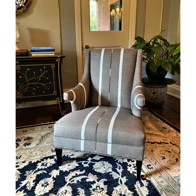Hans Wenger Style Contemporary Armchairs - a Pair For Sale - Image 9 of 11