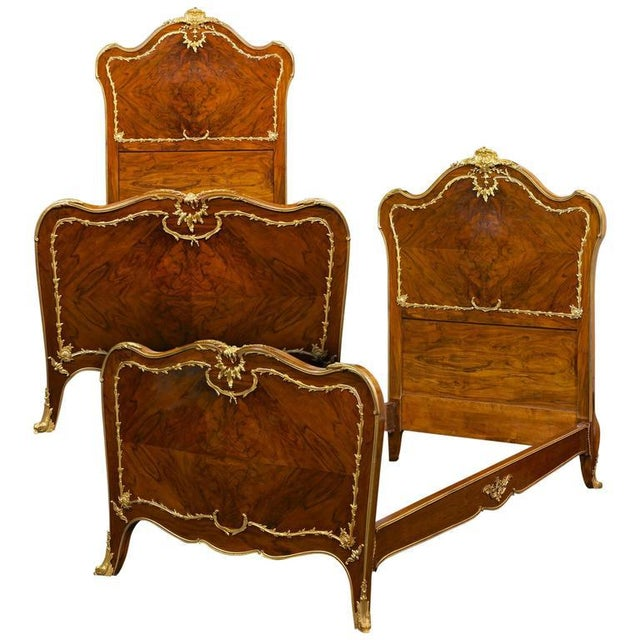 Rococo Style Twin Beds - A Pair - Image 8 of 8