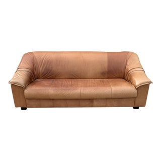 Post Modern Italian Leather Sofa For Sale