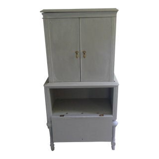 1920s Antique Hand Painted Armoire