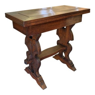 19th Century Spanish Walnut Flip Top Game Table For Sale