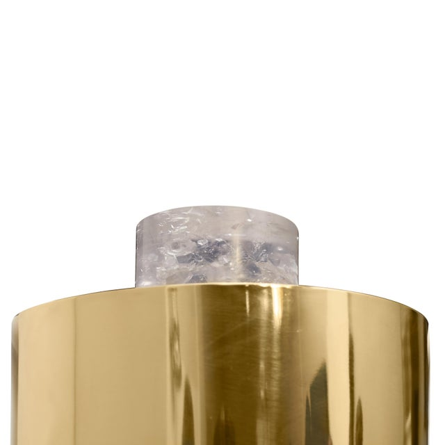 """Art Deco """"Brass on the Rocks"""" Table Lamp (Fractal Resin and Polished Brass) by Sylvan San Francisco For Sale - Image 3 of 4"""