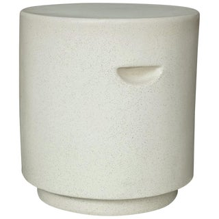 Cast Resin 'Aileen' Side Table, White Stone Finish by Zachary A. Design For Sale