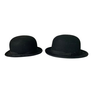 Set of 2 Antique Velvet Riding Hats For Sale