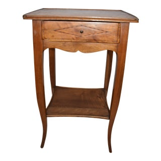 Italian Walnut Stand Side Table For Sale