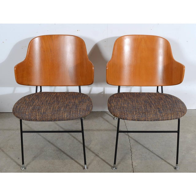 Pair of IB Kofod Larsen Penguin Chairs by Christensen & Larsen Made in the late 1950s or early 1960&s Sorry about the...