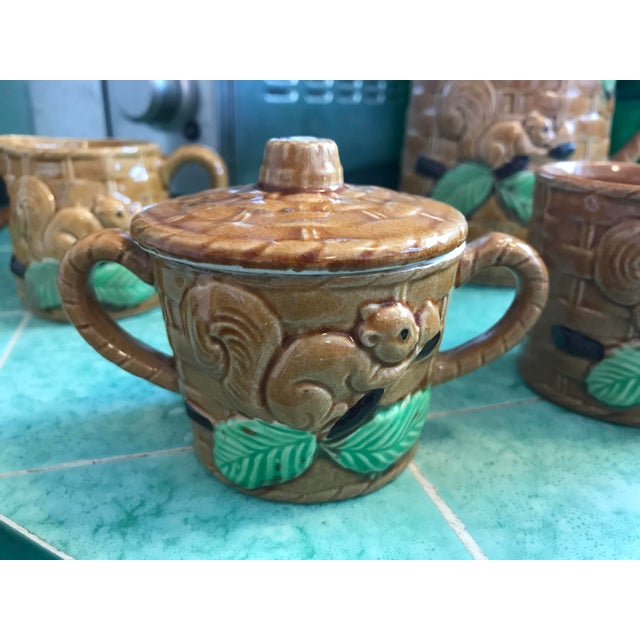 Vintage Squirrel Tea Set Japanese Pottery For Sale In Los Angeles - Image 6 of 13