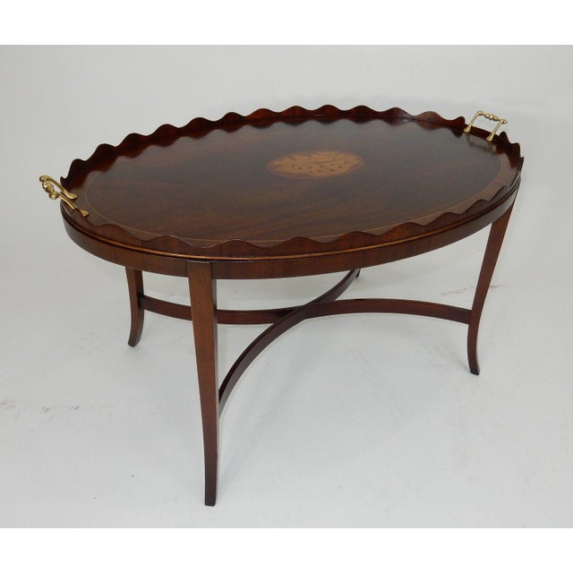 Kittinger Inlaid Mahogany Serving Table For Sale - Image 10 of 13