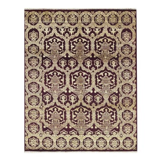 "Contemporary Indian Hand Woven Rug - 8'1"" X 9'11"" For Sale"