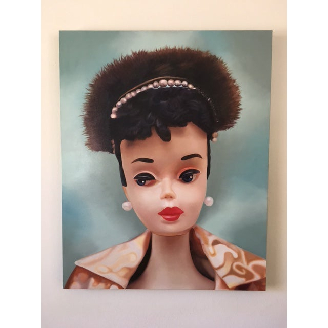 """Contemporary """"Evening Splendour"""" Barbie Oil Painting For Sale - Image 3 of 11"""