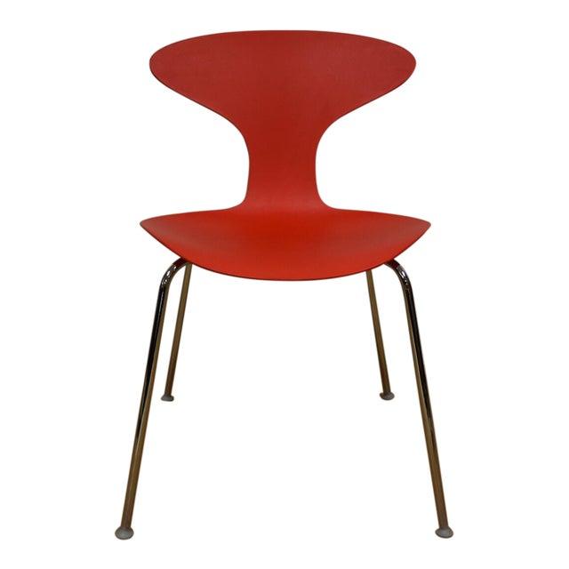 Marvelous Bernhardt Modern Red Chrome Desk Chair Beatyapartments Chair Design Images Beatyapartmentscom