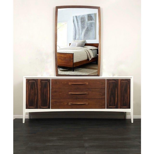 1960s Broyhill Emphasis Bedroom Dresser & Mirror For Sale - Image 10 of 10
