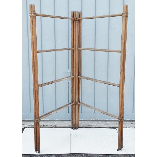 Wood & Metal Folding Rack or Screen - Image 4 of 7