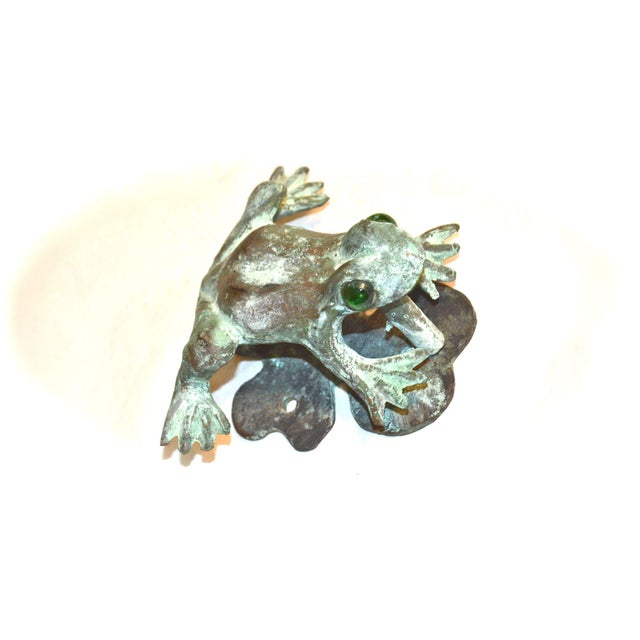 Bronze Frog Door Knocker With Glass Eyes - Image 3 of 10